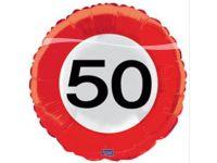 Verkeersbord ballon 50 Folieballon