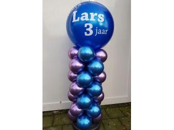 Leeftijden ballonnenzuil chroom