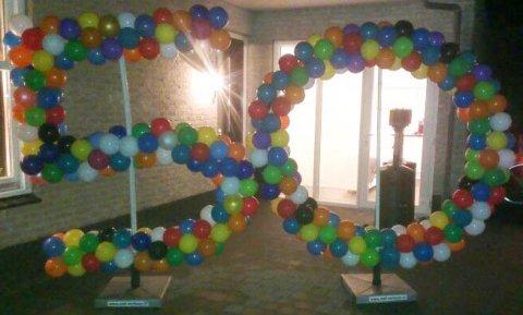 Ballonnen getal 5 foto
