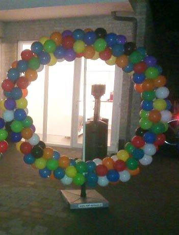 Ballonnen getal 0 foto
