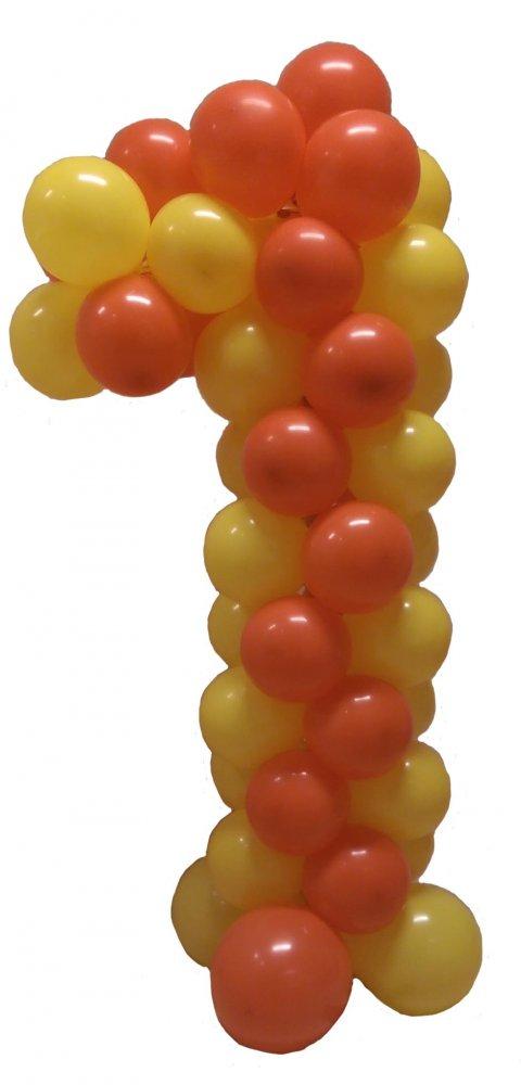 Ballonnen getal 1 foto