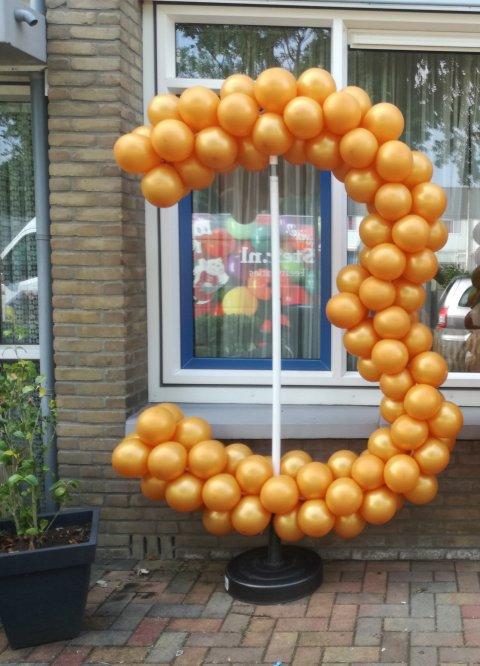 Ballonnen getal 3 foto