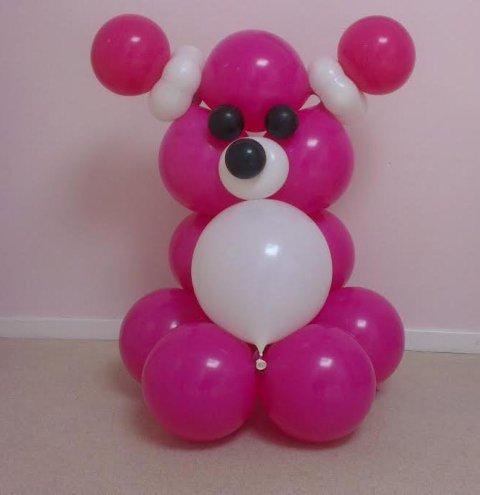 Ballonnen beer Meisje foto