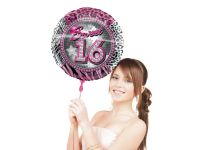 Sweet 16 Folieballon met helium