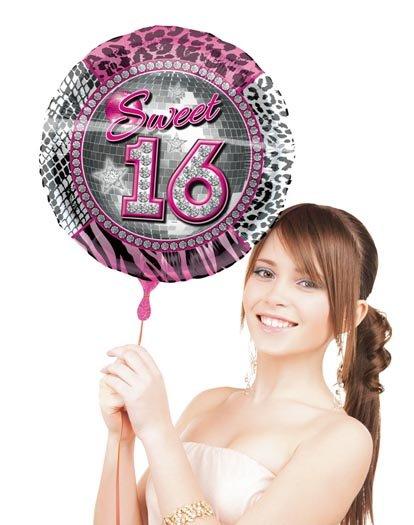 Sweet 16 Folieballon met helium foto