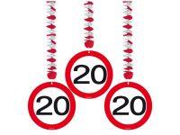 Hangdecoratie Verkeersbord 20