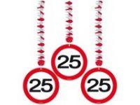 Hangdecoratie Verkeersbord 25