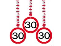 Hangdecoratie Verkeersbord 30