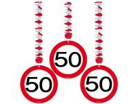 Hangdecoratie Verkeersbord 50