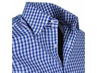 Tiroler blouse Sep blauw 3L