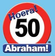 Huldeschild Abraham 50 foto