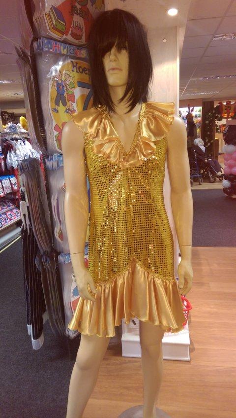 Charlston jurkje goud, jaren 20 foto