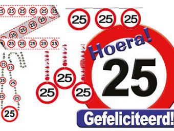 Verjaardag verkeers pakket 25
