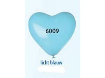 Helium hart ballonnen  l blauw