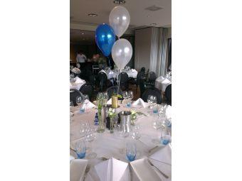 Helium ballon decoratie 3st met gewichtje