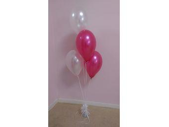 Helium ballon decoratie 4st met gewichtje