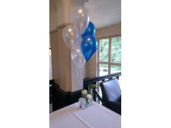 Helium ballon decoratie 5st met gewichtje