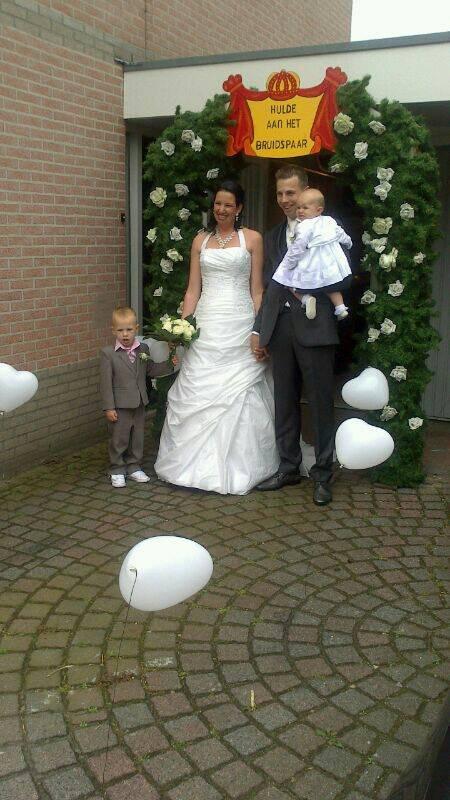 Luxe huwelijksboog compleet foto