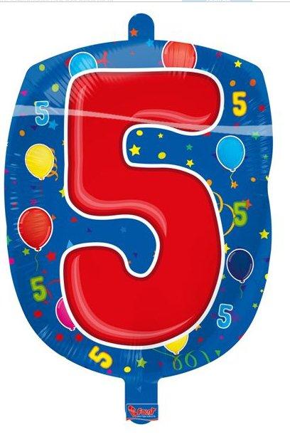 Leeftijd folie ballon 5 foto