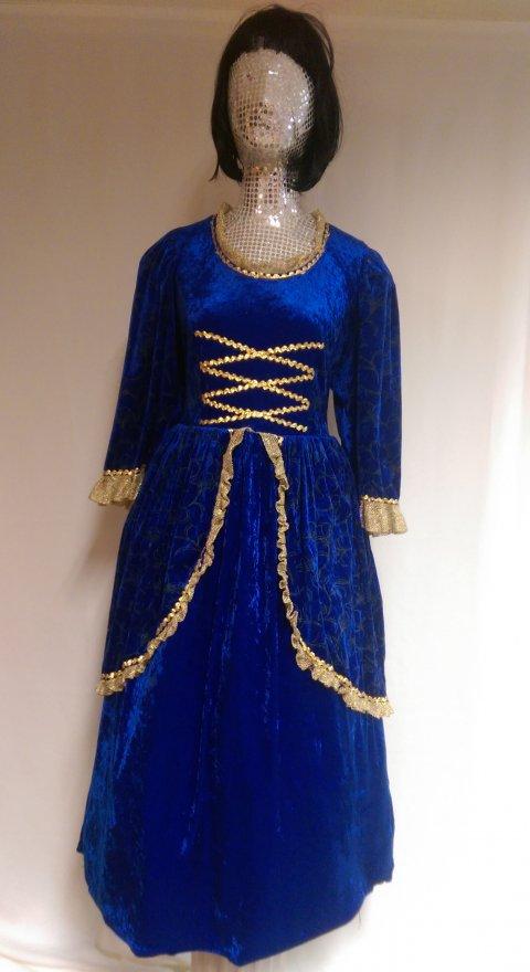 Dickens jurk blauw 48 foto