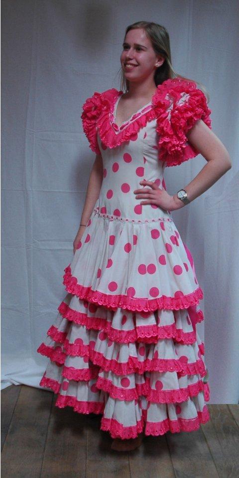 Spaanse danseres luxe roze foto
