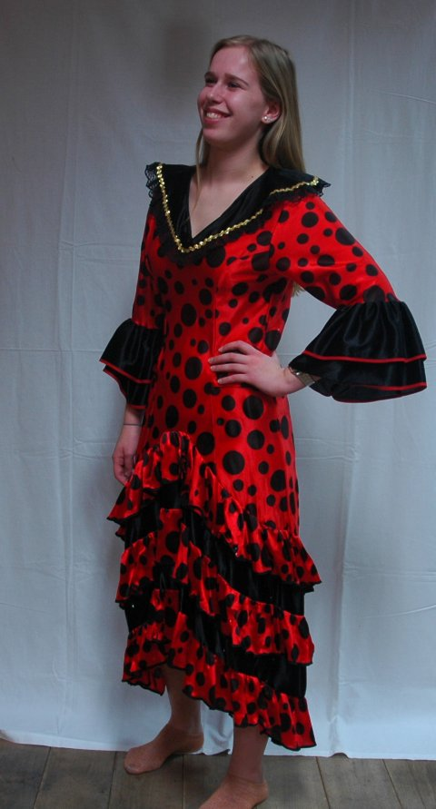 Spaanse danseres jurk foto