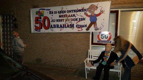 Spandoek voor Abraham foto