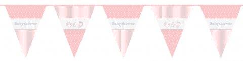 Babyshower vlagenlijn meisje 10m foto