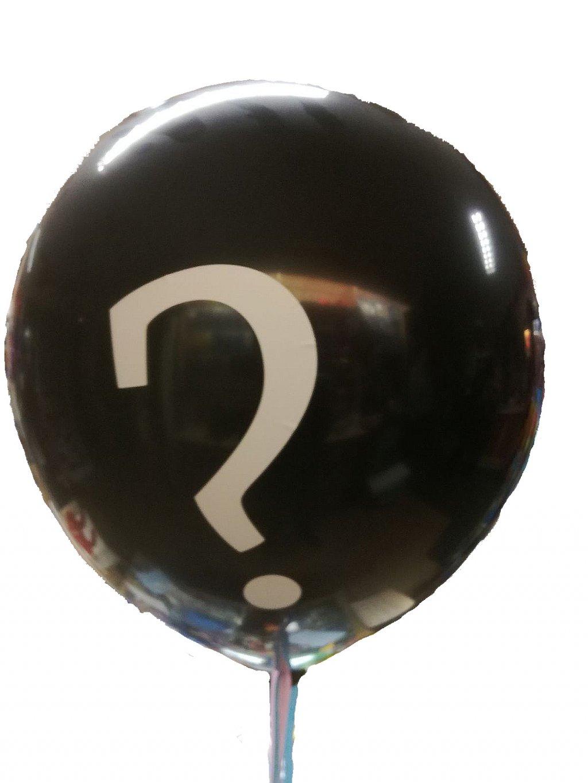Gender reveal ballon met ??? foto