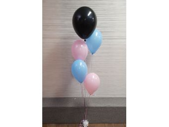 Gender reveal ballon blanco
