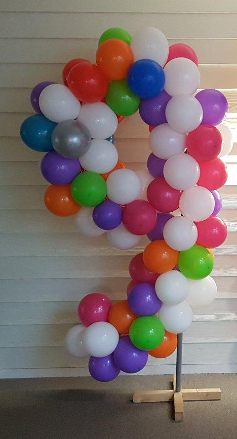 Ballonnen getal 9 foto