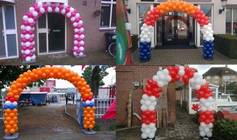 Ballonnen boog gestapeld foto
