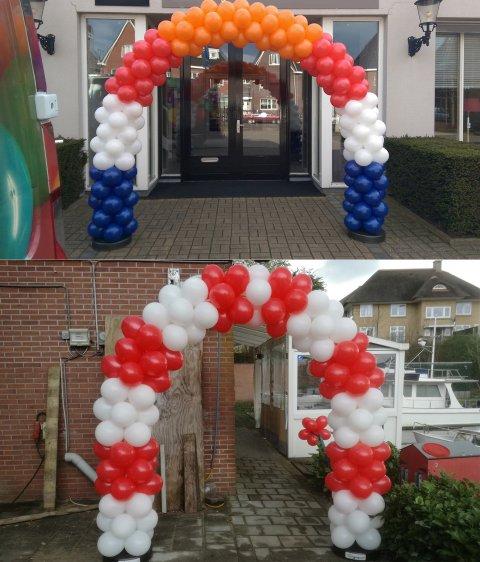 Ballonnen boog dubbel of meer gestapeld foto