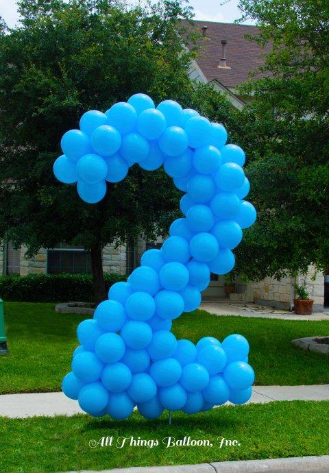 Ballonnen getal 2 foto