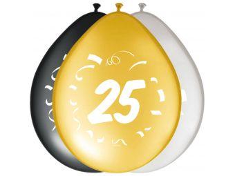 ballonnen 25 jaar 8stuks