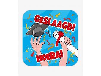 huldeschild geslaagd cartoon