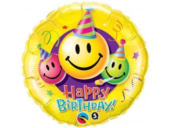 Emoticon Happy birthday smiley faces 45cm