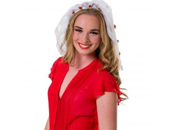 Witte tiara bruid Bachelorette