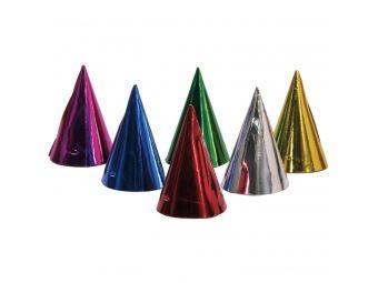 gekleurde feesthoedjes 6 stuks