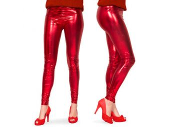 legging metallic rood