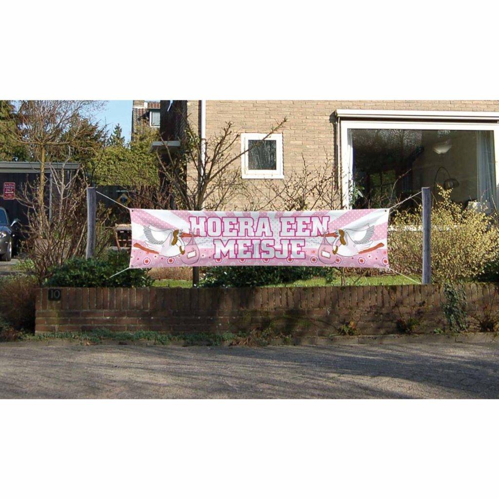 Geboorte banner meisje foto