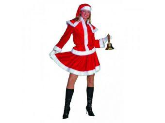 Kerst vrouw met cape m44