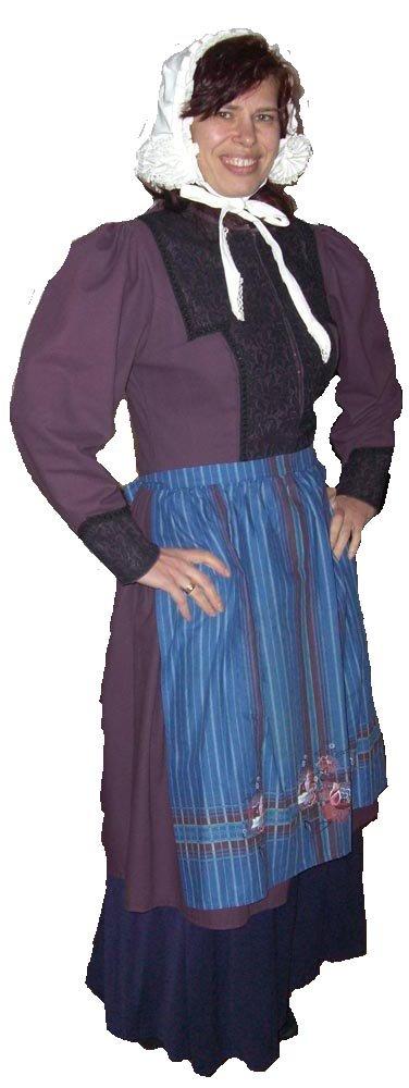 Sarah jurk met knipmuts foto