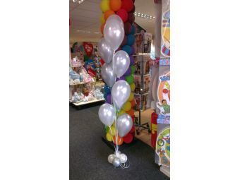 Metalic ballonnen met helium