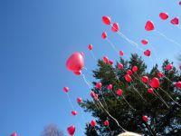 Helium hart  ballonnen per st