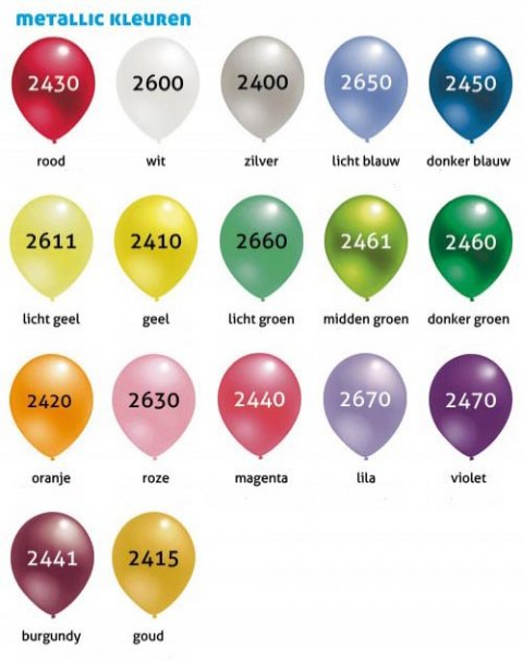 Kleurkaart metallic foto